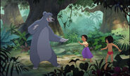 Mowgli and Shanti are both with Baloo the bear