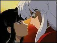 Inuyasha and kikyo gaze at each other