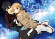 Asuna & Kirito (Sword Art Online Ordinal Scale) Pic (1)