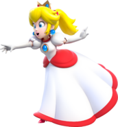 Fire Princess Peach Artwork (alt) - Super Mario 3D World