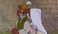 Robin Hood & Maid Marian Cheek Kiss