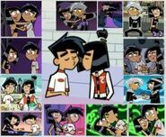 Danny Fenton and Sam Manson couple collage
