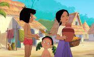 Mowgli has gave Shanti her water jug