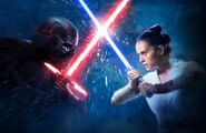 Rey and Kylo poster