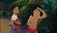 Mowgli is telling Shanti about danger