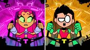 Teen Titans Go! Robin and Starfire operating figure