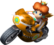 Princess Daisy Artwork Mario Kart Wii