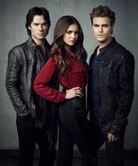 Elena, Damon & Stefan Love Triangle (4)