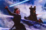 The force awakens art concept kira and the jedi killer