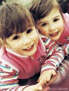Jamee and Sophia toddlers