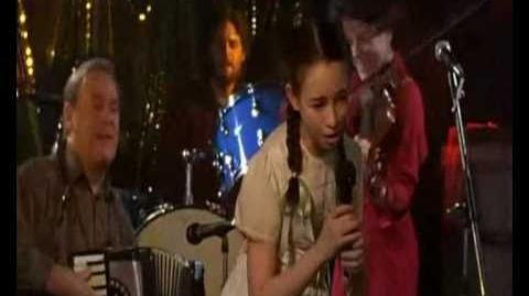 Jodelle Ferland - Cèline sings for the first time