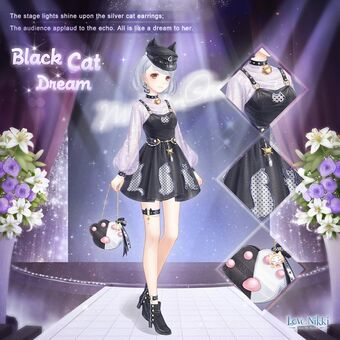 Black Cat Dream Love Nikki Dress Up