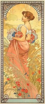 Mucha Seasons Summer 1900