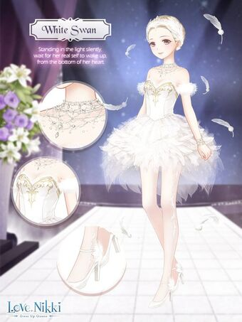 White Swan Love Nikki Dress Up Queen