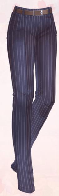 Striped gentleman pants