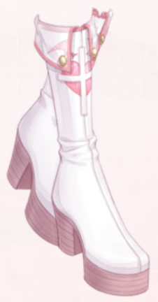White Cross Boots
