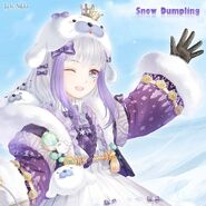 Snow Dumpling close up 1