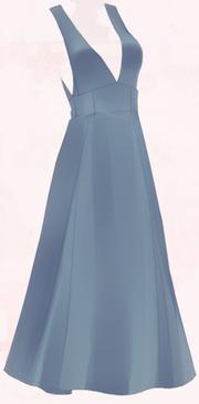 Suspender Skirt-Blue