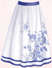 Blue Porcelain-Skirt