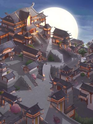 Mysterious Moonlit City