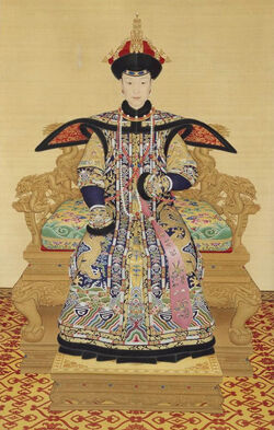 CN Forbidden City Queen's Winter Dress Painting