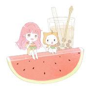 Nikki and Momo Watermelon