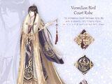 Vermillion Bird Court Robe