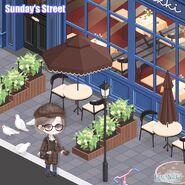 Sunday's Street close up 1