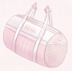 Barrel Sports Bag-Pink