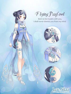 Flying Peafowl