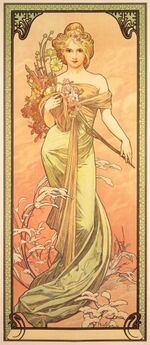 Mucha Seasons Spring 1900