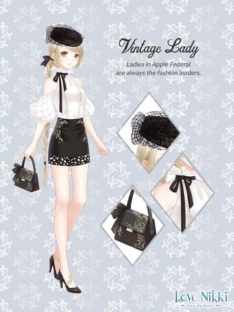 Vintage Lady Love Nikki Dress Up Queen Wiki Fandom