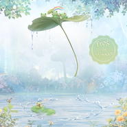 Frog in Monsoon background