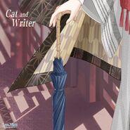 Cat and Writer close up 2