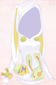 Bunny Pocket-White