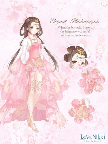 Elegant Phalaenopsis Pink Love Nikki Dress Up Queen