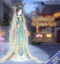 Goddess of Peacock Pack