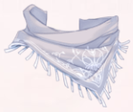 Denim Scarf-Gray Stripes