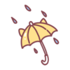 Sticker Rainy