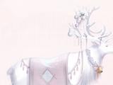 Snow Bell Deer Shadow