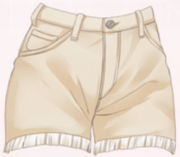 Casual Shorts-Beige