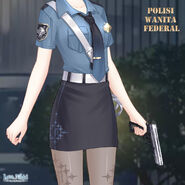 Federal Policewoman close up 2