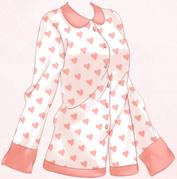Heart Pajamas-Top