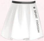 White Sport Skirt