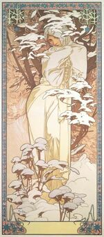 Mucha Seasons Winter 1900
