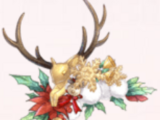 Reindeer and Holly