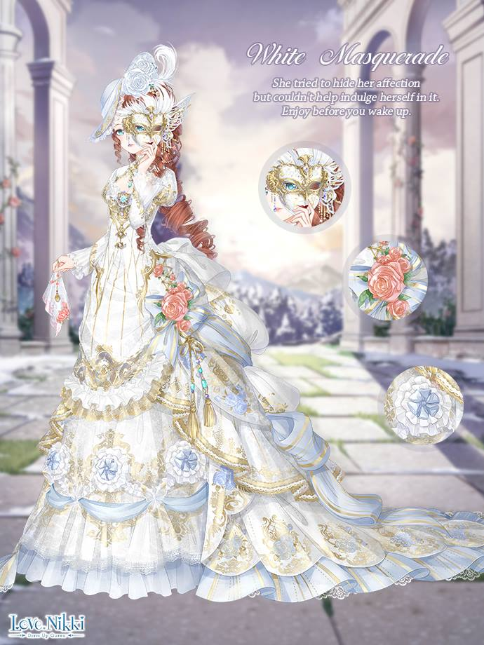 White Masquerade Love Nikki Dress Up Queen Wiki Fandom