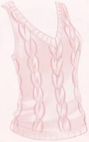 Knit Vest-Pink
