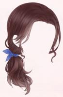 Hair Ribbon-Brown