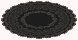 Dark Lace Round Blanket